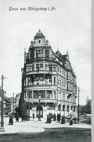 Königsberg, Münzstraße, Ecke Münzplatz