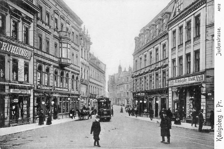 Königsberg, Junkerstraße, Einmündung Poststraße