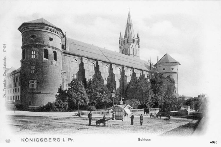 Königsberg, Gesekusplatz, Schloß von Nordwest