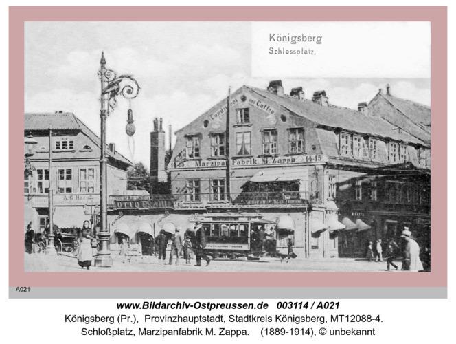 Königsberg, Schloßplatz, Marzipanfabrik