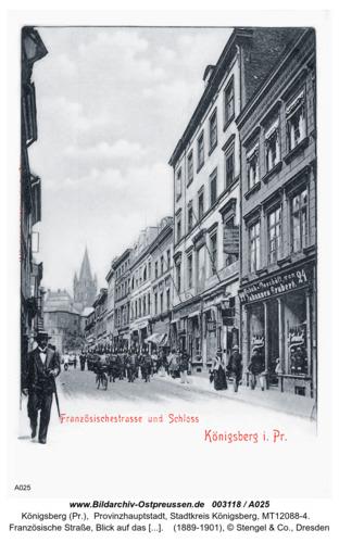 Königsberg, Französische Straße, Geschäftshaus Johannes Grubert