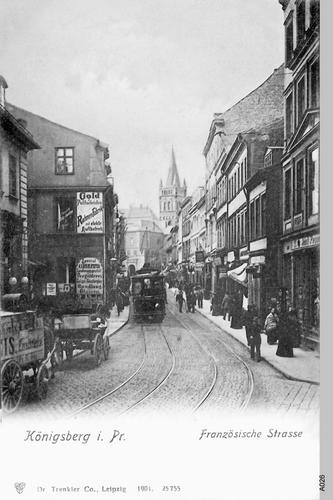 Königsberg, Französische Straße, Straßenbahn, Ecke Kreislerstraße