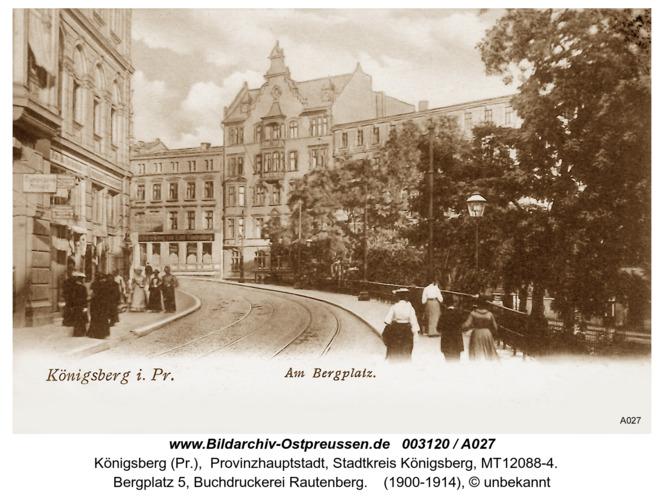 Königsberg, Am Bergplatz