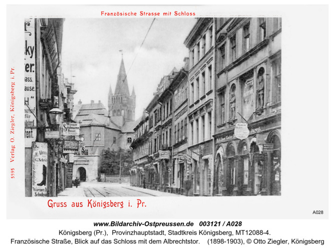 Königsberg, Französische Straße, Schloß