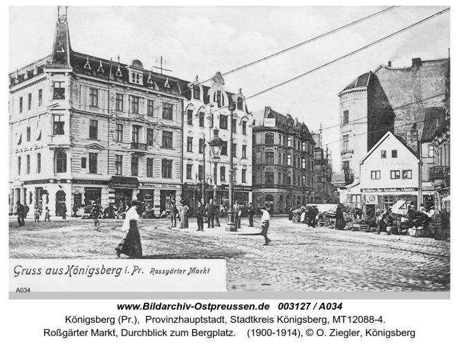 Königsberg, Roßgärter Markt, Durchblick zum Bergplatz