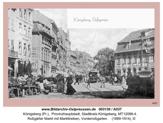 Königsberg, Roßgärter Markt mit Markttreiben, Vorderroßgarten