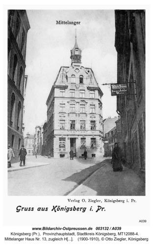Königsberg, Mittelanger