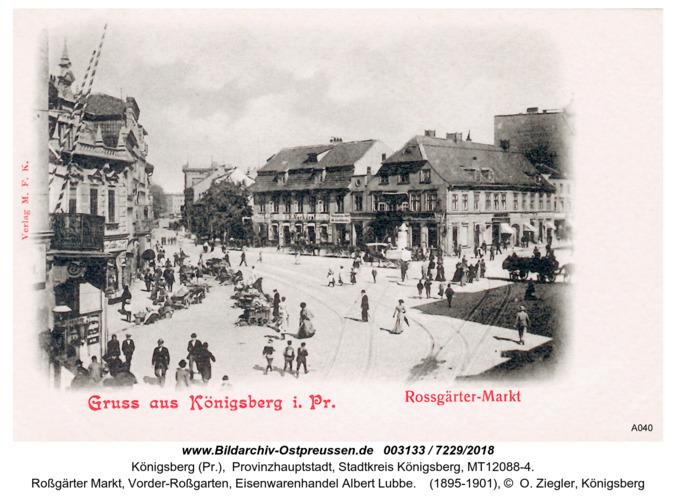 Königsberg, Roßgärter Markt, Vorder-Roßgarten, Eisenwarenhandel Albert Lubbe