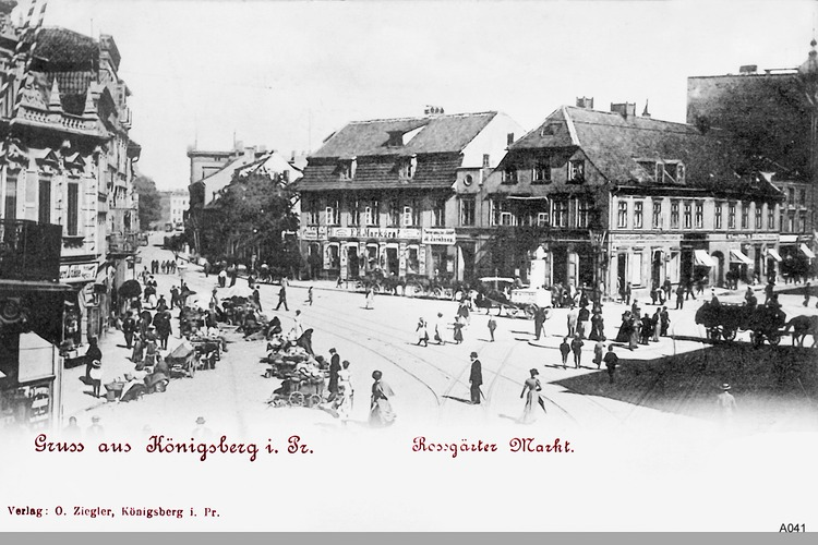 Königsberg, Roßgärter Markt, Eisenwarenhandel Albert Lubbe