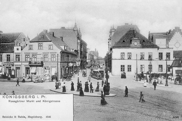 Königsberg, Roßgärter Markt, Königstraße