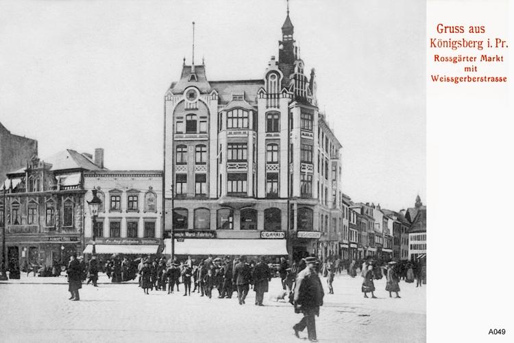 Königsberg, Roßgärter Markt, Weißgerberstraße