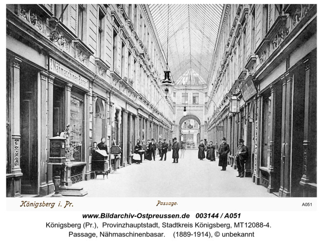Königsberg, Passage, Nähmaschinenbasar