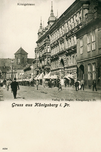 Königsberg, Königstraße, Passage, Militärparade zu Pferd