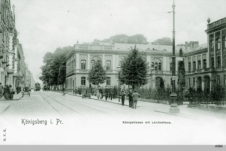 Königsberg, Königstraße mit Landeshaus