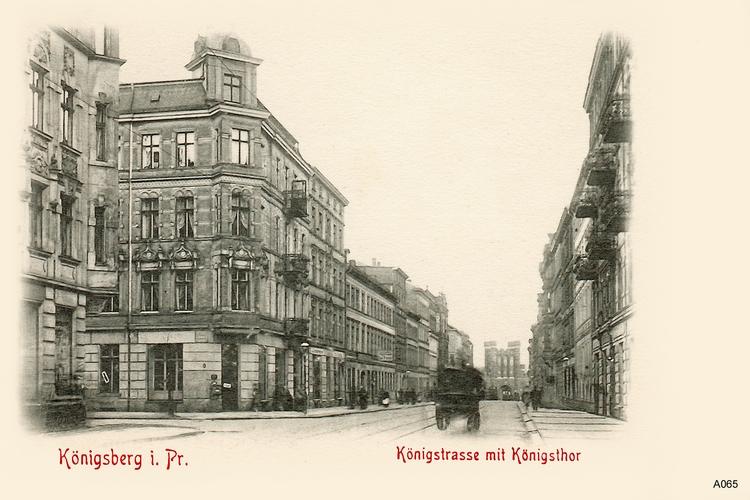 Königsberg, Königstraße, Ecke Dinterstraße, Königstor