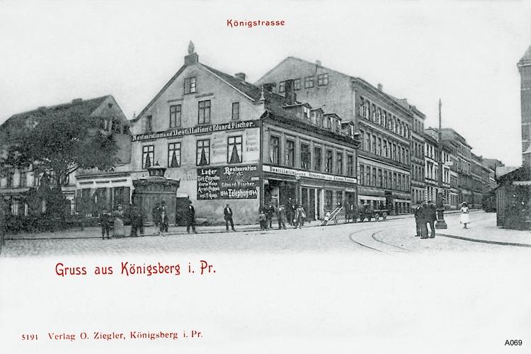 Königsberg, Königstraße, Restauration und Destilation Eduard Fischer