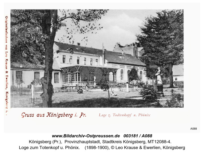 Königsberg, Loge zum Totenkopf u. Phönix