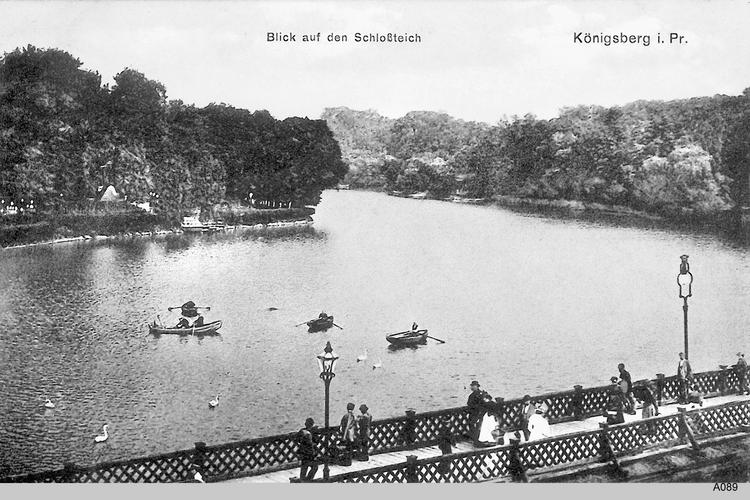 Königsberg, Blick auf den Schloßteich