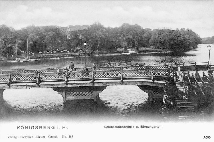 Königsberg, Schloßteichbrücke, Börsengarten
