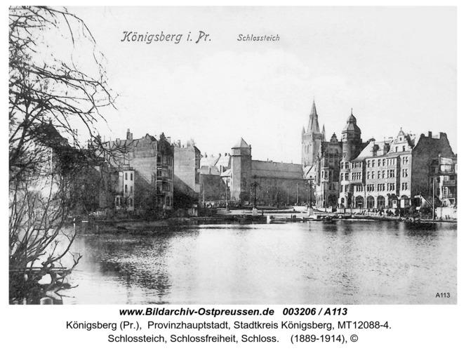 Königsberg, Schloßteich, Schloßfreiheit, Schloß
