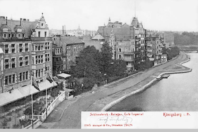 Königsberg, Schloßteich-Anlagen, Café Imperial