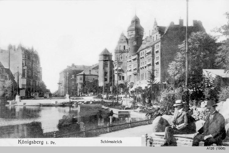 Königsberg, Schloßteich, Schloßteichpromenade