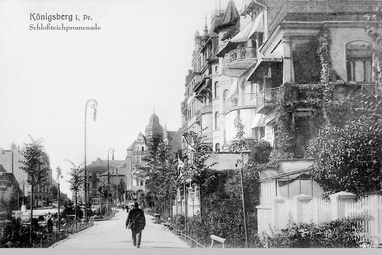 Königsberg, Mann auf Schloßteichpromenade