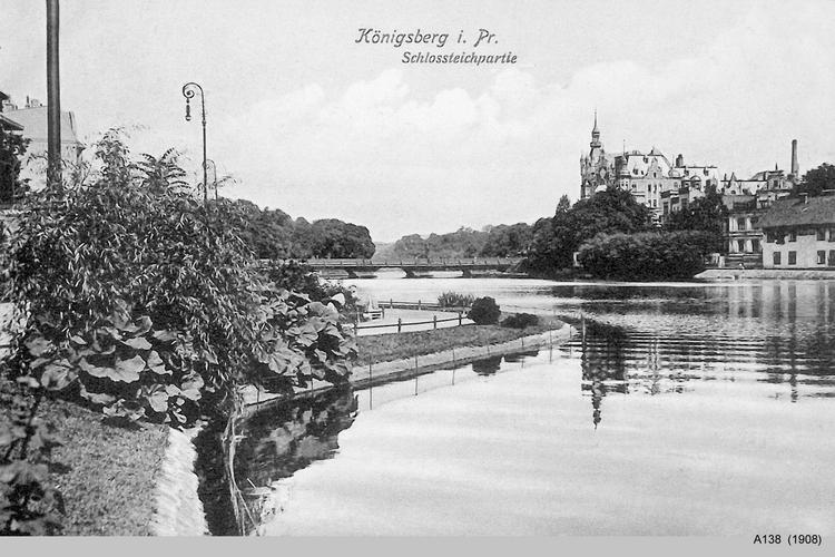 Königsberg, Schloßteich, Schloßteichpartie