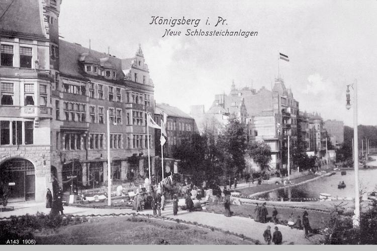 Königsberg, Neue Schloßteichanlagen