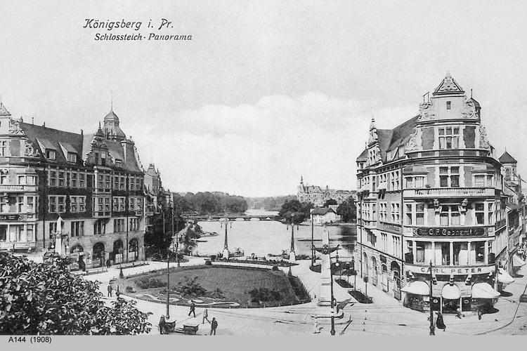 Königsberg, Schloßteich-Panorama
