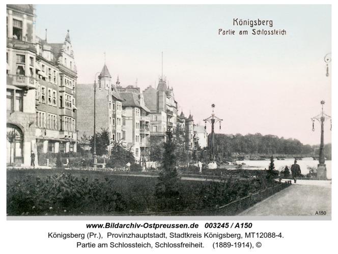 Königsberg, Partie am Schloßteich, Schloßfreiheit