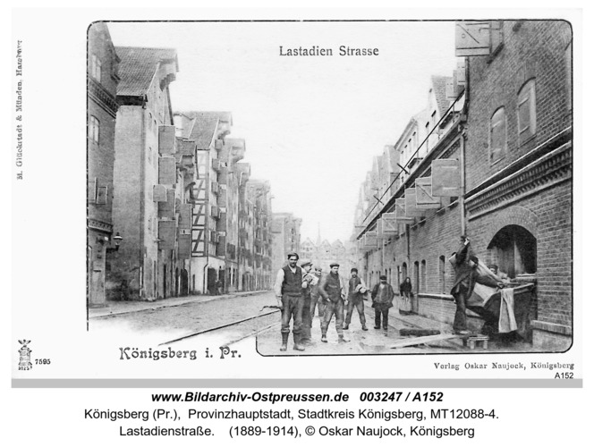 Königsberg, Lastadien Straße