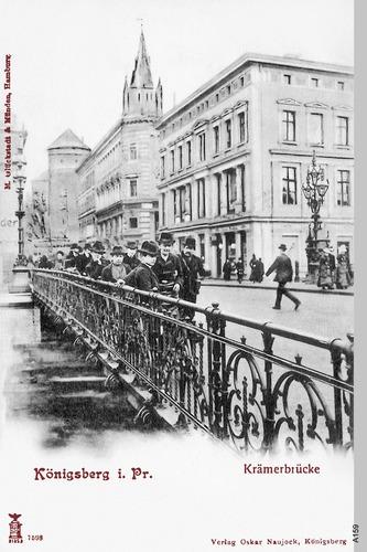 Königsberg, Kneiph. Langgasse Krämerbrücke
