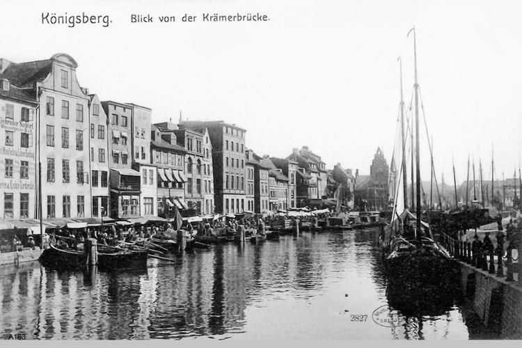Königsberg, Blick von der Krämerbrücke