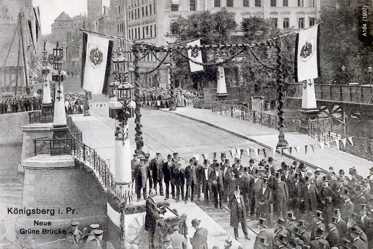 Königsberg, Eröffnungsfeier der Neuen Grünen Brücke