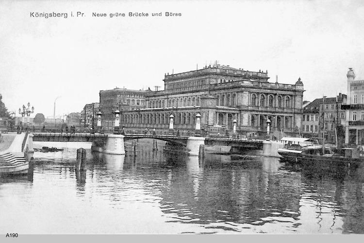 Königsberg, Neue Grüne Brücke mit Börse
