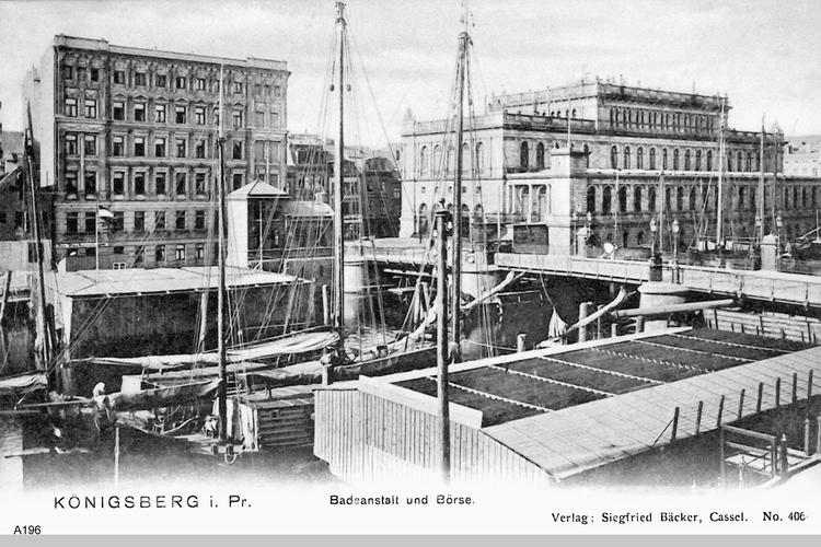 Königsberg, Badeanstalt und Börse