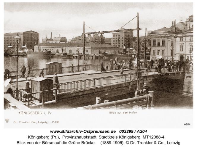 Königsberg, Blick von der Börse auf die Grüne Brücke