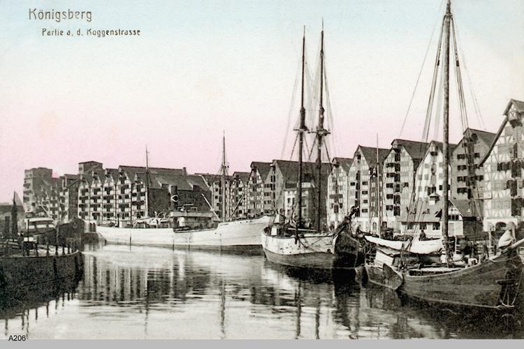 Königsberg, Partie an der Koggenstraße