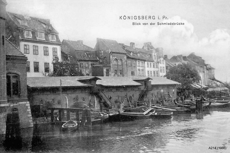 Königsberg, Blick von der Schmiedebrücke