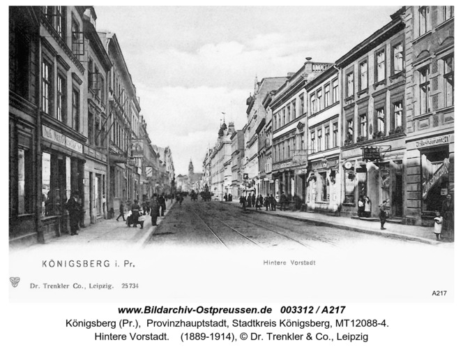 Königsberg, HintereVorstadt