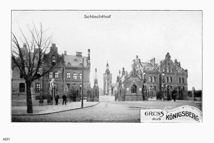 Königsberg, Schlachthof Eingangstor