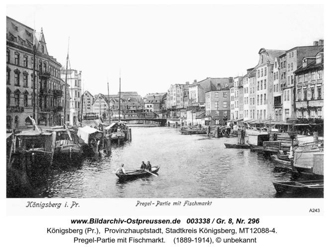 Königsberg, Pregel-Partie mit Fischmarkt