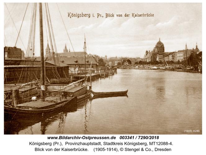 Königsberg, Blick von der Kaiserbrücke