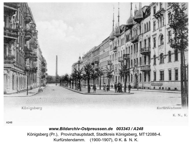Königsberg, Kurfürstendamm