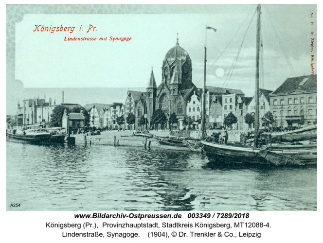 Königsberg, Lindenstraße, Synagoge