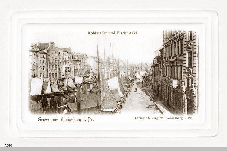Königsberg, Fisch- und Kohlmarkt