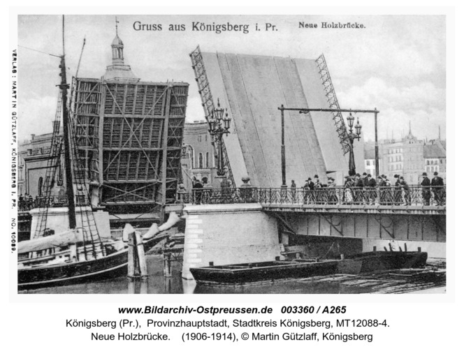 Königsberg, Neue Holzbrücke