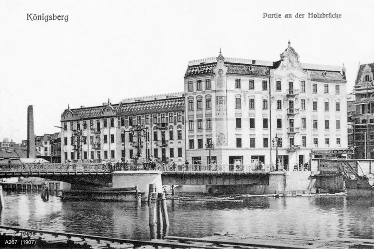 Königsberg, Partie an der Holzbrücke