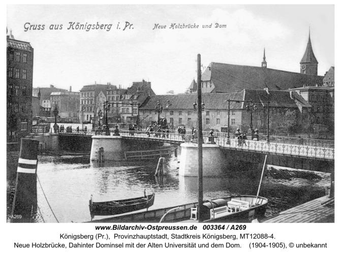 Königsberg, Neue Holzbrücke, Dom
